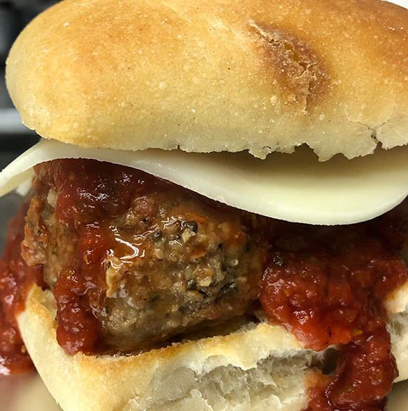 Metro Detroit's Best Food Trucks | Saucy Joe's Italian - Best-Meatball-Sandwich-Detroit-Saucy-Joe's-Italian-Food-Truck